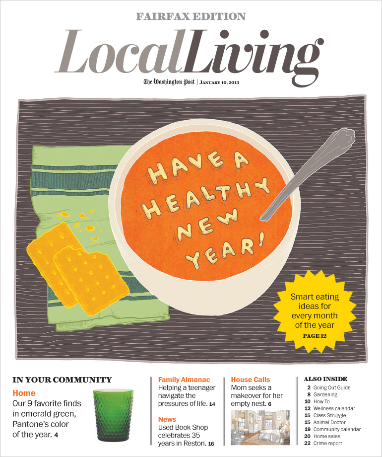 Local Living cover design by Tippi Thole for The Washington Post